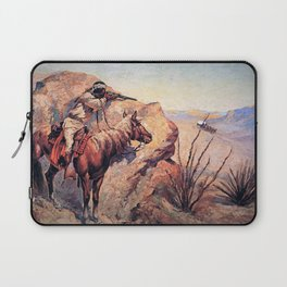 "Frederic Remington Western Art ""Apache Ambush"" Laptop Sleeve"