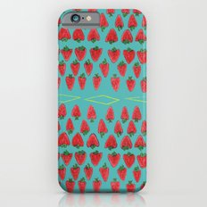 Field of Strawberries iPhone 6s Slim Case