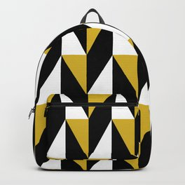 Geometric Pattern 77 (mustard black triangles) Backpack