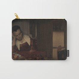 "Johannes Vermeer ""A Woman Asleep at Table"" Carry-All Pouch"