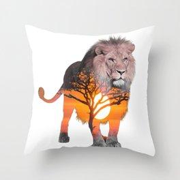 LION poster, Savanna canvas, Throw Pillow