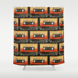 Awesome Guardian Cassette Vol 1 Shower Curtain