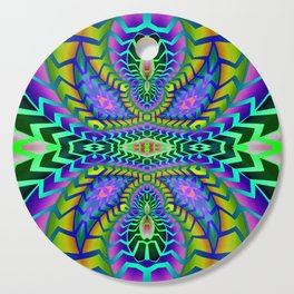 Tribal Rainbow Lotus Cutting Board