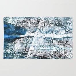 Gray Blue Marble wash drawing Rug