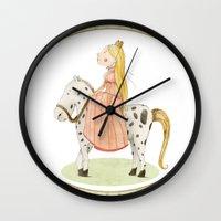 princess Wall Clocks featuring Princess by Judith Loske