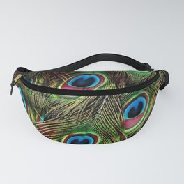 art nouveau bohemian turquoise purple teal green peacock feather Fanny Pack
