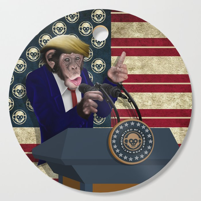 PRESIDENT of THE APES Cutting Board