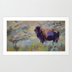 Small Bison Art Print