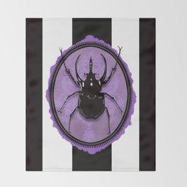 Juicy Beetle PURPLE Throw Blanket