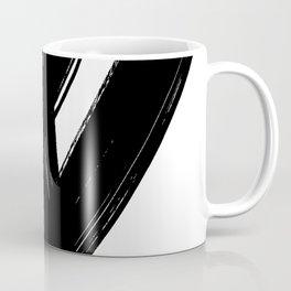 Black Abstract Brush Strokes nr 1 Coffee Mug