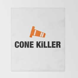Cone Killer v4 HQvector Throw Blanket