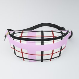 Loved Up Pinstripe Plaid Fanny Pack