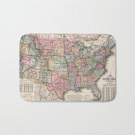 Vintage United States Map (1860) Bath Mat