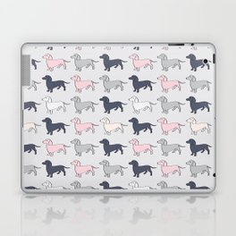 Doxie Love - Grey and Pink Laptop & iPad Skin