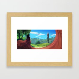 Going There Framed Art Print