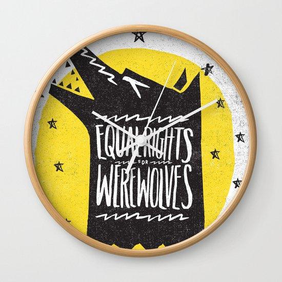 WEREWOLF RIGHTS Wall Clock
