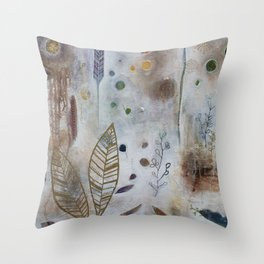 Luna Leaf Throw Pillow