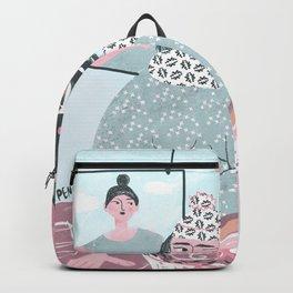 Painter in her studio Backpack