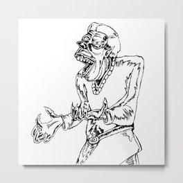 Werewolf Transformation in Ink Metal Print