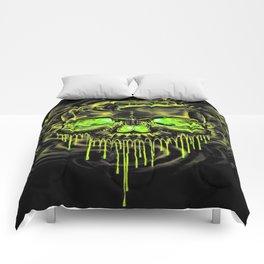 Glossy Yella Skeletons Comforters