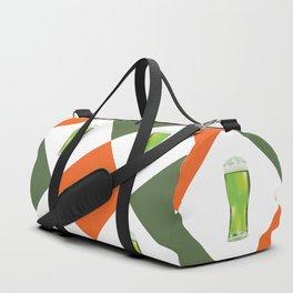Green beer glass Duffle Bag