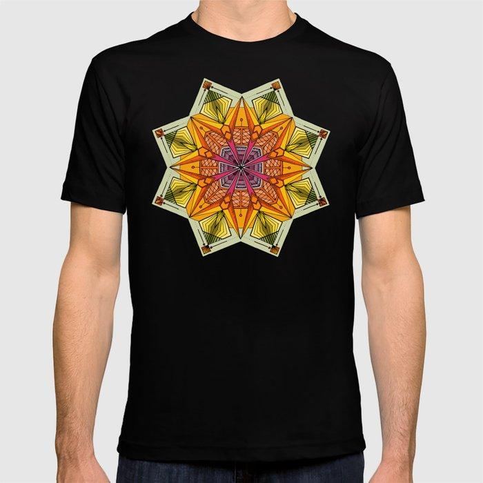 octagonal flowers T-shirt