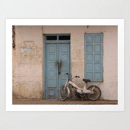 """Tunisian Moped"" Photo by Noora Elkoussy Art Print"