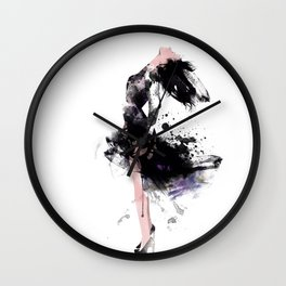 Fashion Painting #1 Wall Clock