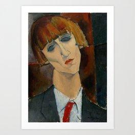 Madame Kisling by Amedeo Modigliani Art Print