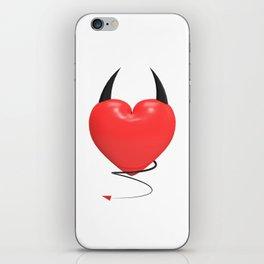Devilish heart iPhone Skin
