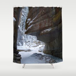 Maligne Canyon Icewalk Shower Curtain