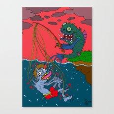 Fishin' time! Canvas Print