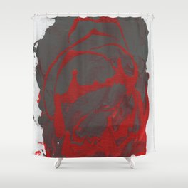 The Red Grey Abstraction. Shower Curtain