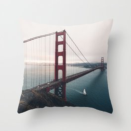 Golden Gate Bridge - San Francisco, CA Throw Pillow