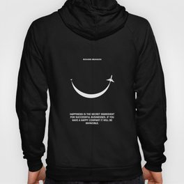 Lab No. 4 - Happiness is the secret Richard Branson Business Quotes Poster Hoody