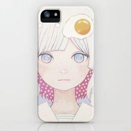 Silence egg-san Tamago fuyashitabaai iPhone Case