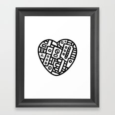 Iron heart (B&W Edition) - PM Framed Art Print