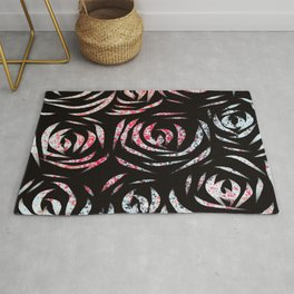 Roses On A Speckled Runway Rug