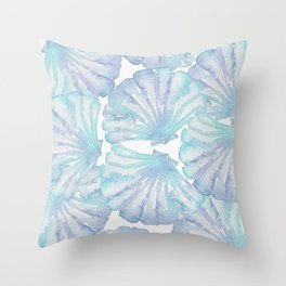 Shell Ya Later - Turquoise Seashell Pattern Throw Pillow