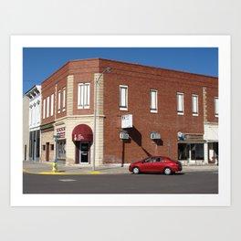 Abilene, Kansas - 2nd and Broadway 2009 Art Print
