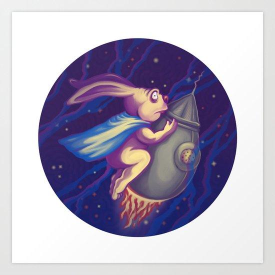 Spatial rabbit Art Print