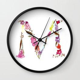 monograms - M Wall Clock
