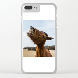 Laugh and the world laughs with you Clear iPhone Case