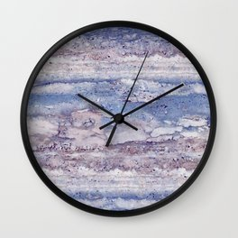 Blue lilac marble Wall Clock