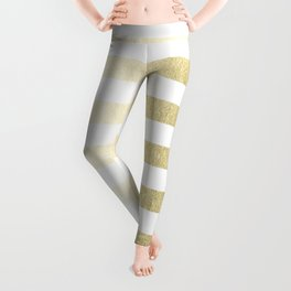Simply Striped Gilded Palace Gold Leggings