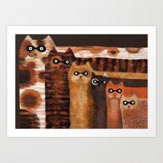 Cat Burglars Art Print