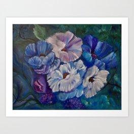 Surreal Poppies Art Print
