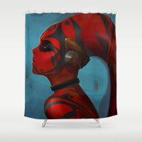 darth Shower Curtains featuring DARTH TALON by Yvan Quinet