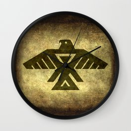 Symbol of the Anishinaabe, Ojibwe (Chippewa) on  parchment Wall Clock