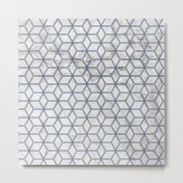 Hive Mind Marble Navy #381 Metal Print